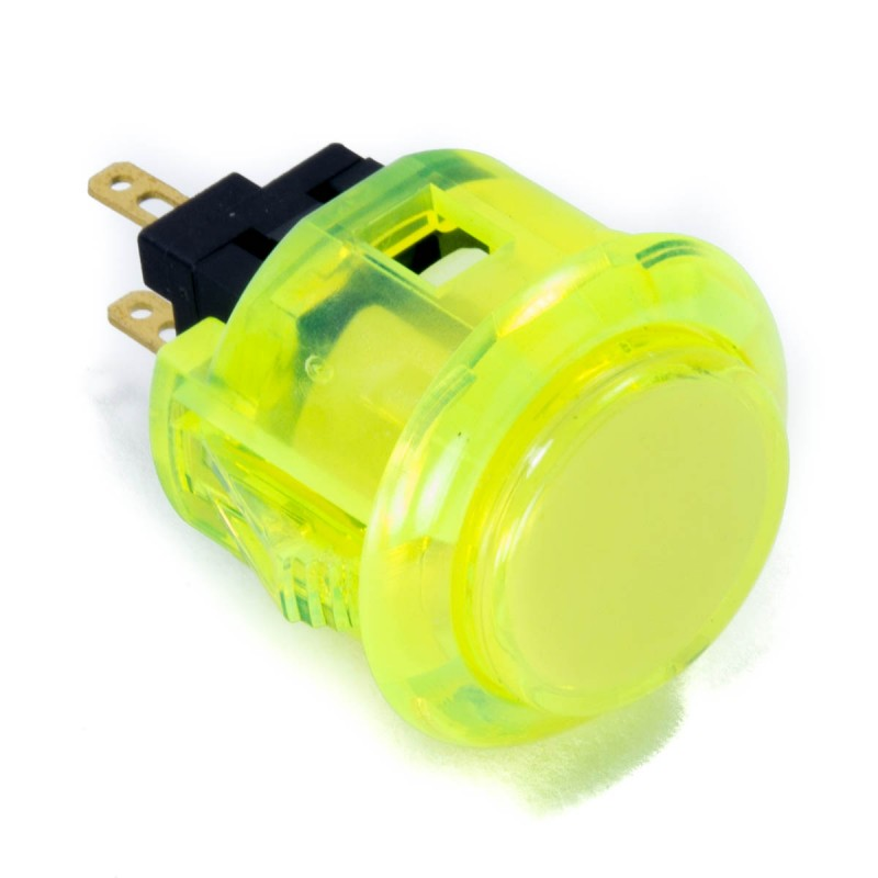 Sanwa OBSC-24 Snap-in Button - Clear Yellow