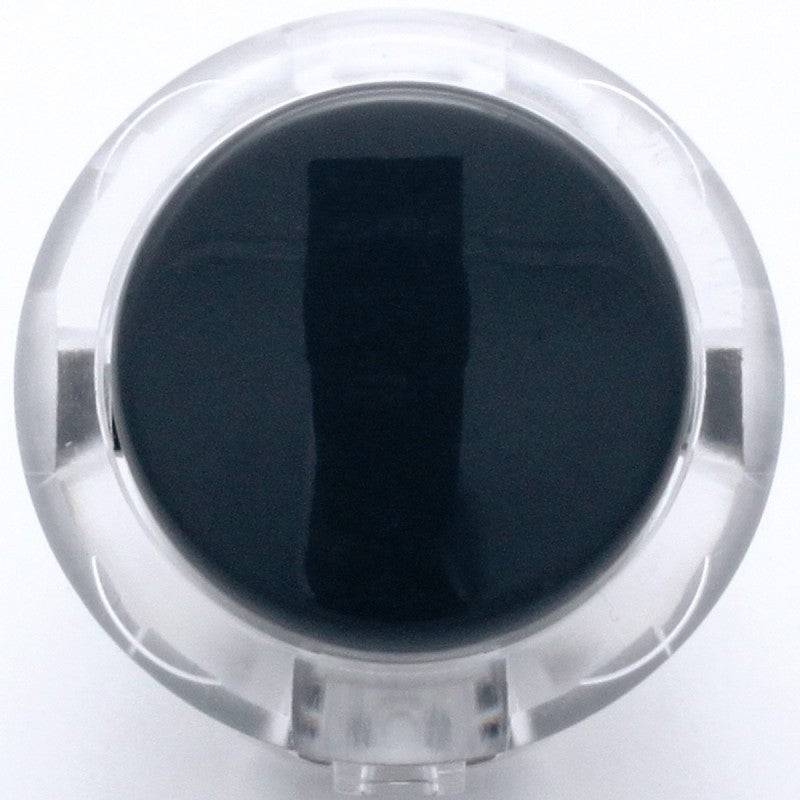 Sanwa OBSC-30 Snap-in Button - Clear White & Black Plunger