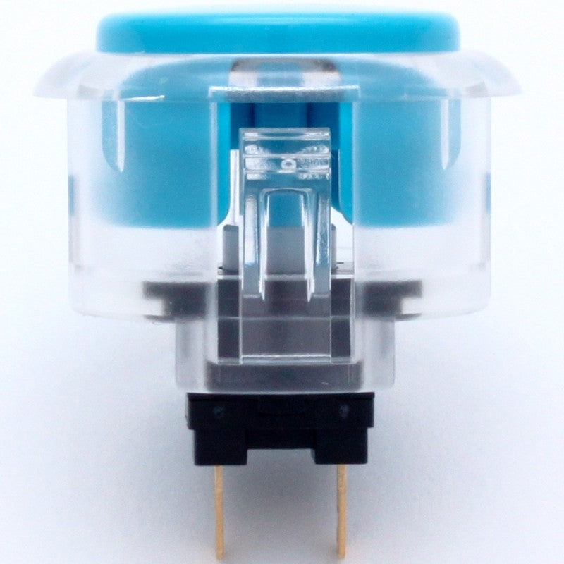Sanwa OBSC-30 Snap-in Button - Clear White & Blue Plunger