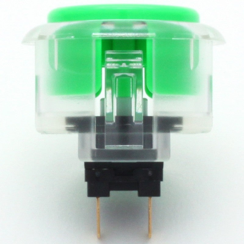 Sanwa OBSC-30 Snap-in Button - Clear White & Green Plunger