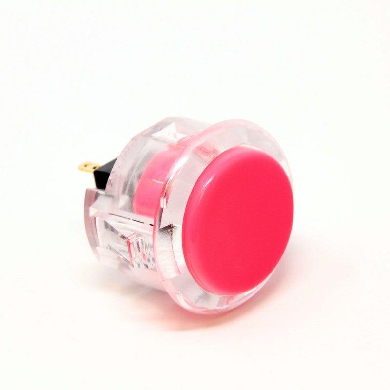 Sanwa OBSC-30 Snap-in Button - Clear White & Pink Plunger