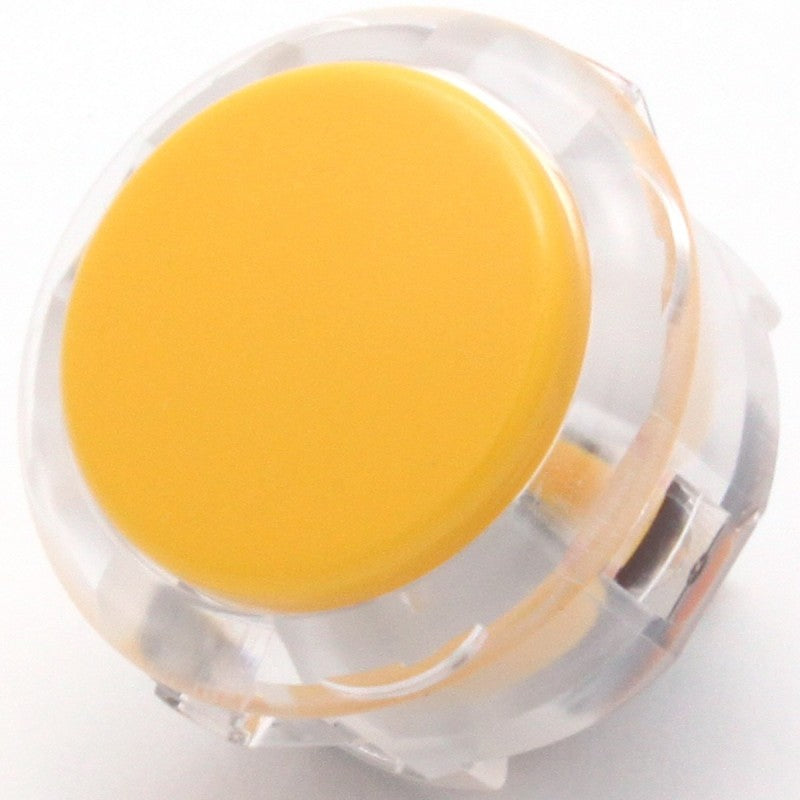 Sanwa OBSC-30 Snap-in Button - Clear White & Yellow Plunger