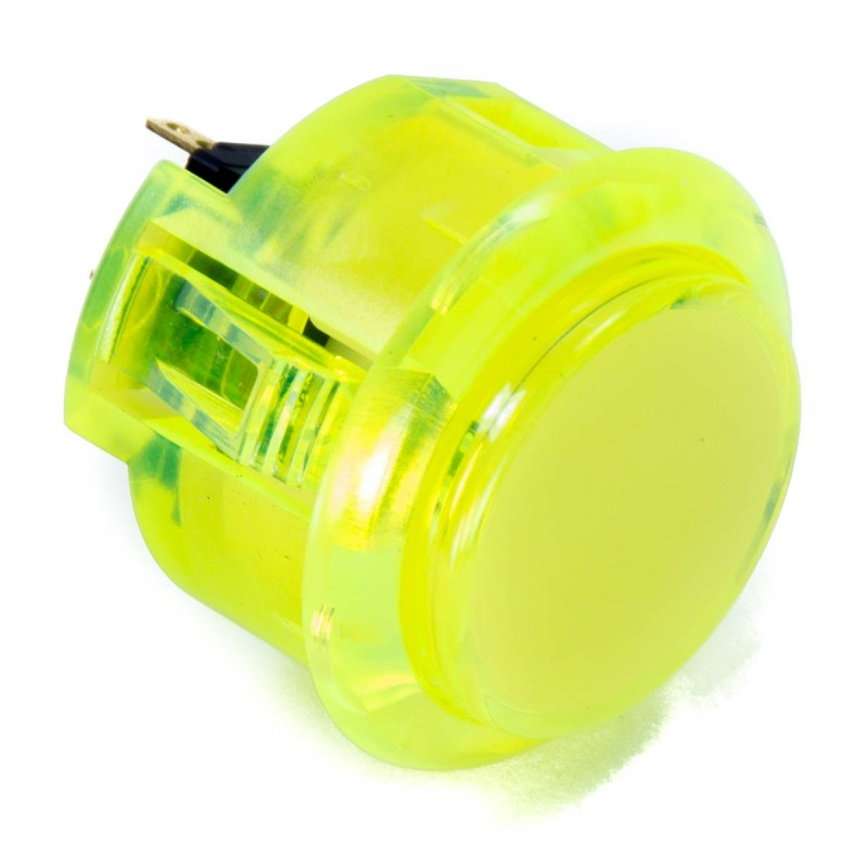 Sanwa OBSC-30 Snap-in Button - Clear Yellow