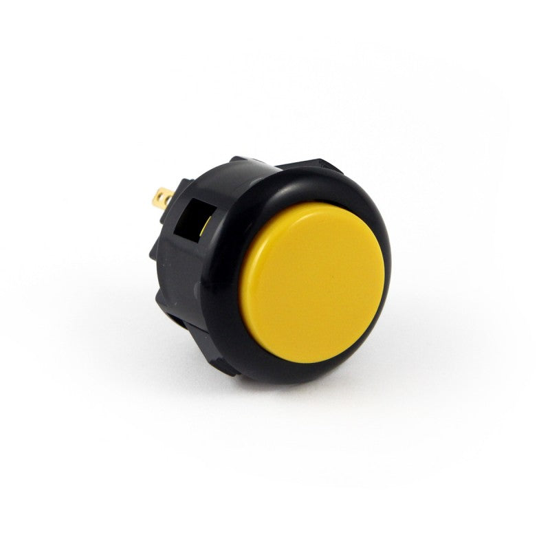 Sanwa OBSF-24 Snap-in Button - Black & Yellow