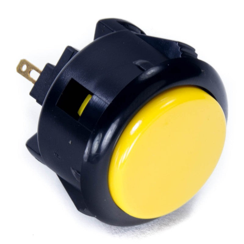 Sanwa OBSF-30 Snap-in Button - Black & Yellow