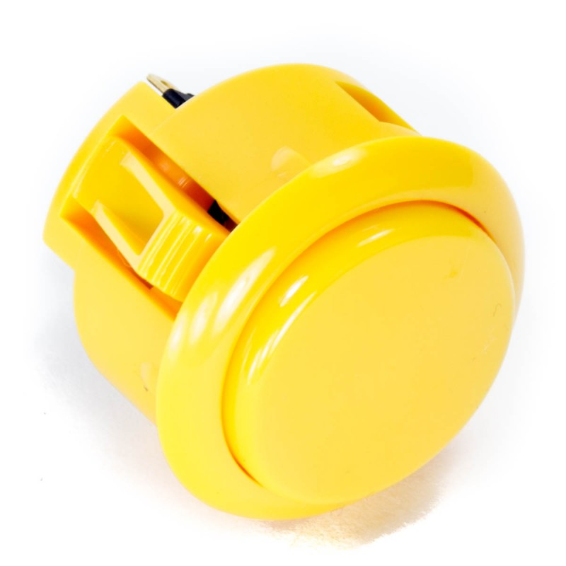 Sanwa OBSF-30 Snap-in Button - Yellow