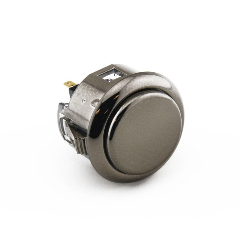 Sanwa OBSJ-30 Snap-in Button - Metallic Gun Metal