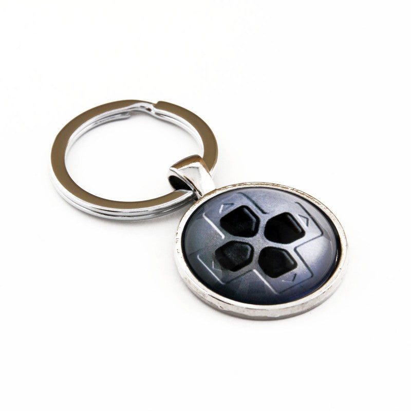 Silver Playstation D-Pad Keychain