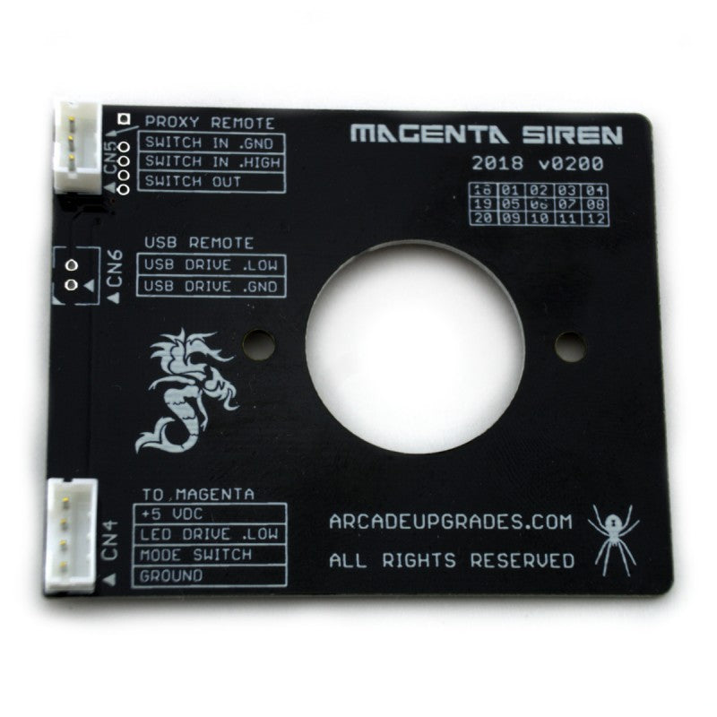 Siren Add-on PCB for the Magenta Joystick