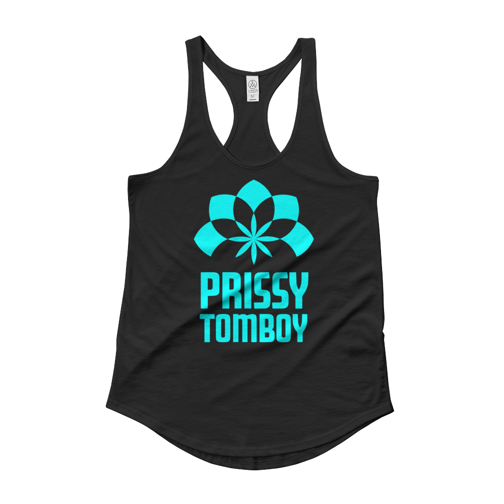 Prissy Tomboy Blue Ladies' Shirt-tail Tank