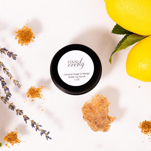 Coconut sugar lip scrub made with mango butter