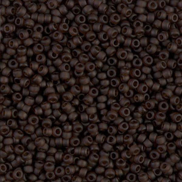 Matte Transparent Brown Miyuki 11/0 Seed Beads 20 grams