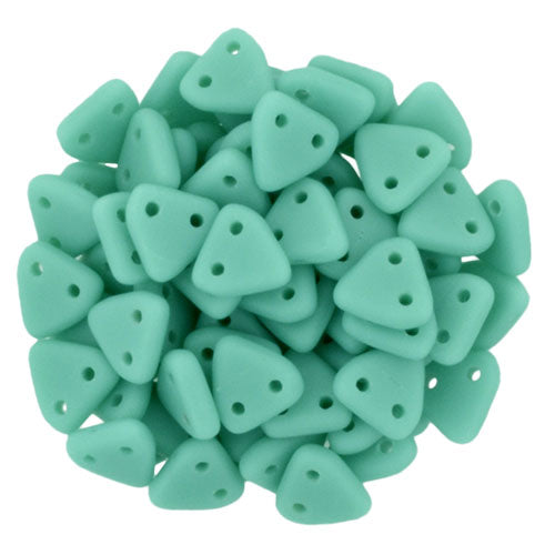 CzechMate Triangle Beads Matte Turquoise 10 grams