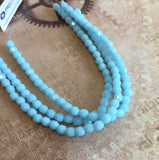Strand of 38 Fire Polished Beads Turquoise