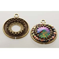 Cabochon Setting with Gallery Bezel Pack of 4