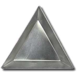 Triangular Aluminium Bead Tray Pack of 12