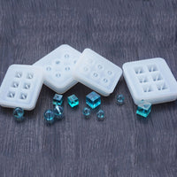 Silicone Mould for 16mm Cube Resin Beads