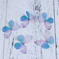 Purple Blue Butterfly Ethereal Organza Embellishment for Millinery or Decoration Pack of 5