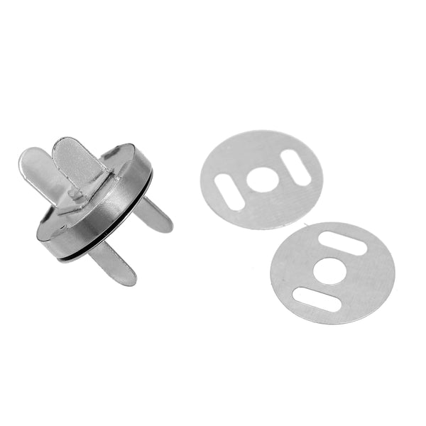 Silver Magnetic 18mm Snap Clasps For Purses or Bags 4 Sets