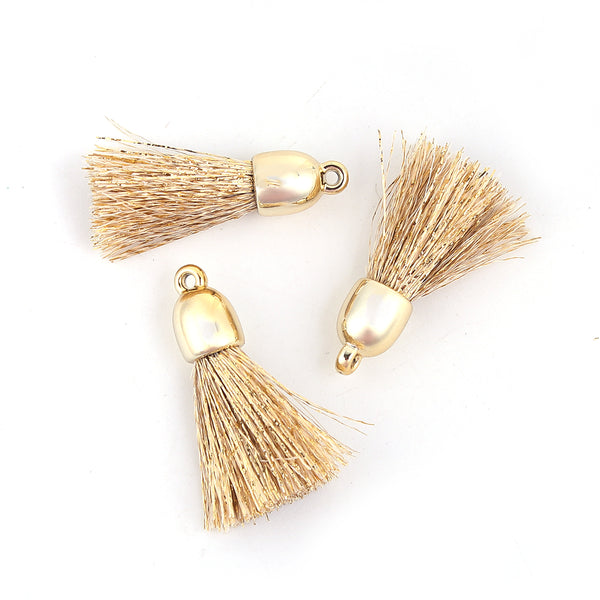 Golden Tassel Pendant Pack of 4