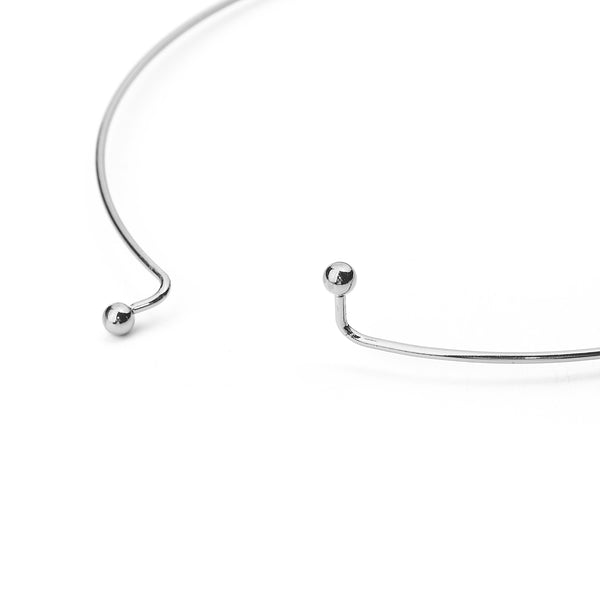 Wire Collar Necklace Silver Tone Pack of 3