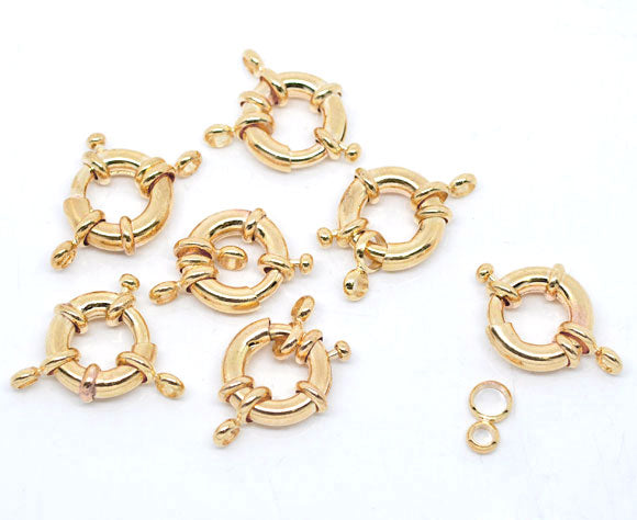 Gold Colour Spring Ring Clasps 25mm Pack of 4 Sets