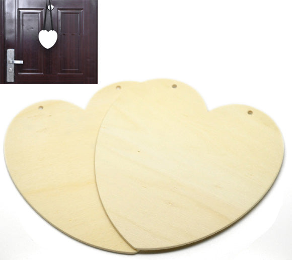 Paint Your Own Hanging Heart Wooden Plaque Pack of 2