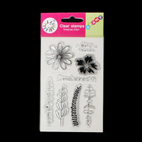 Clear Unmounted Silicone Stamps Floral and Messages