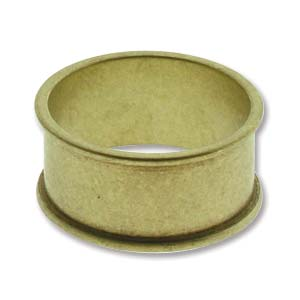 Brass Wide Channel Ring Size 8 Pack of 2