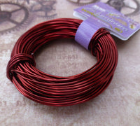 Beadsmith  Aluminium Wire 18 gauge Ox Blood Red