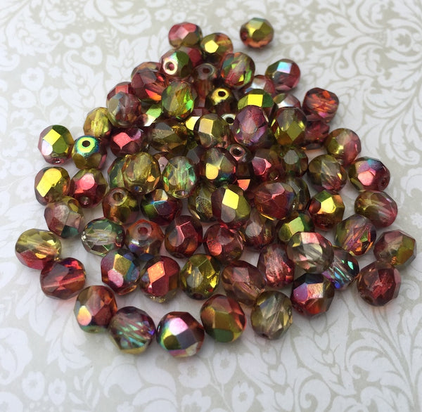 Crystal Magic Apple 6mm Fire Polished Beads Pack of 40
