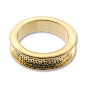 Gold Plated Channel Ring Size 6.5