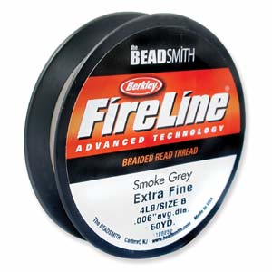 FireLine 4lb Smoke Grey Beading Thread Size B 50 yds