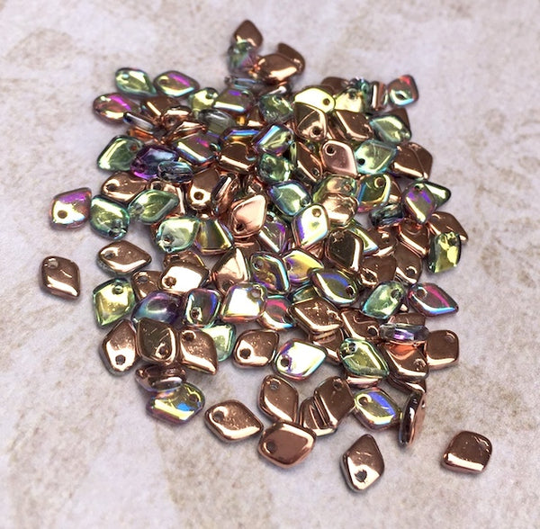 Dragon Scale Beads Crystal Copper Rainbow 9.5 grams DRG398533
