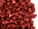 Red Metallic Mat Kheops par Puca® Beads 9 grams