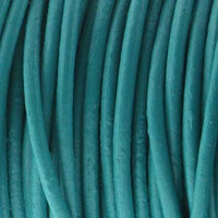 1 meter Indian Leather 5mm thick, Turquoise