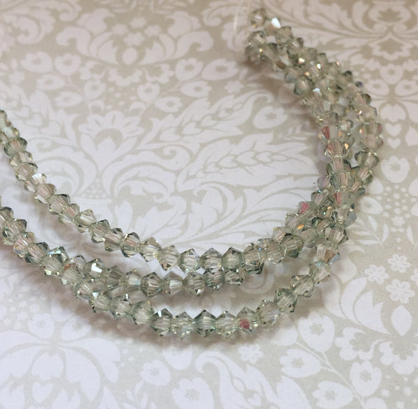 Crystal Viridian MC Bicone 3 mm Beads Strand of 42