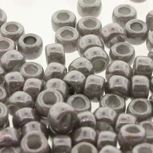 Glass Beads Matubo 8/0 Chalk Jet Lustre