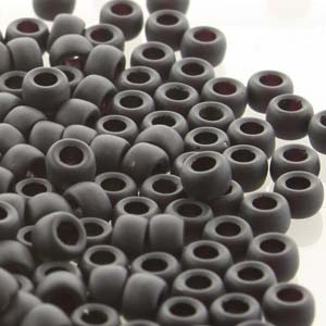 Glass Beads Matubo 8/0 Jet Mat