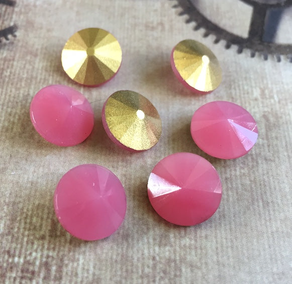 Pink Opal 12 mm Rivoli by Matubo Pack of 2