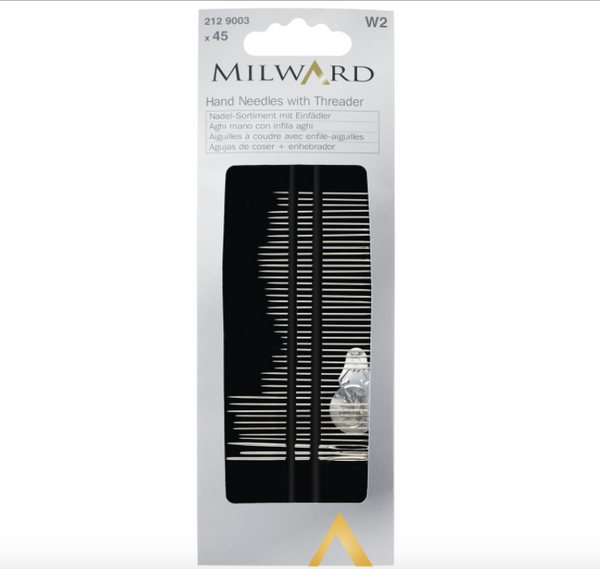 Milward Assorted 45 Hand Needles With Threader