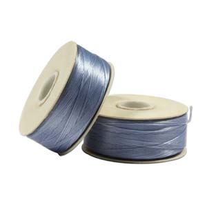 Size B Nymo Beading Thread Cathy Blue 2 Bobbins