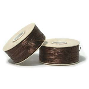 Size B Nymo Beading Thread Brown 2 Bobbins
