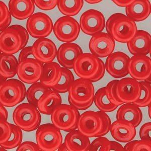 O BEADS Czech Glass Beads - Opaque Red