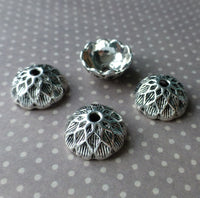 Tibetan Style Antique Silver Acorn Bead Caps Pack of 30