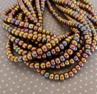 Dark Bronze 6/0 Czech Glass Seed  Beads 20 grams sb6-01640