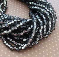 Black Diamond Silver Lined 6/0 Czech Glass Seed Beads 20 grams