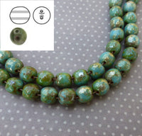 Dobble Beads 8mm Turquoise Blue Picasso Strand of 20 DBL0863030-43400