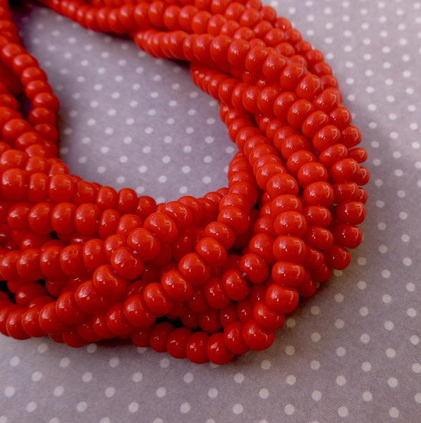 Red 6/0 Czech Glass Seed Beads 20 grams SB6-93190