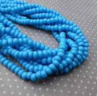 Turquoise 6/0 Czech Glass 4.1 mm Beads – 6 Strands of 150 Beads